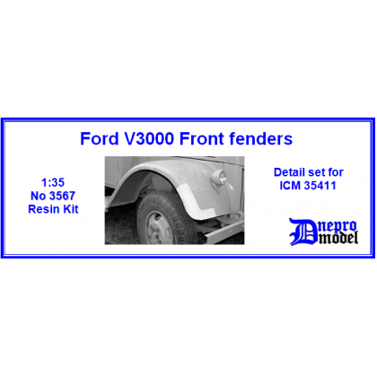Ford V3000 Front fenders Detail set for ICM 35411 1/35