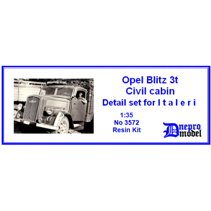 Opel Blitz 3t Civil cabin Detail set for Italeri 1/35