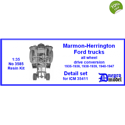 Marmon - Herrington Ford trucks All wheel Drive conversion 1935-1936, 1938-1939, 1940-1947 Detail set for ICM 35411 1/35
