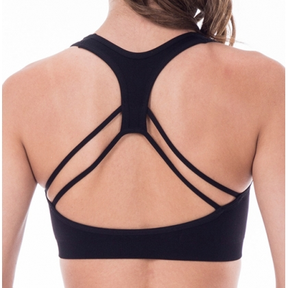String racer sports bra