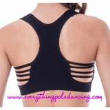 Mesh string back bra