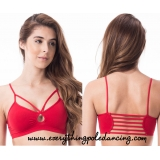 Keyhole caged bra top