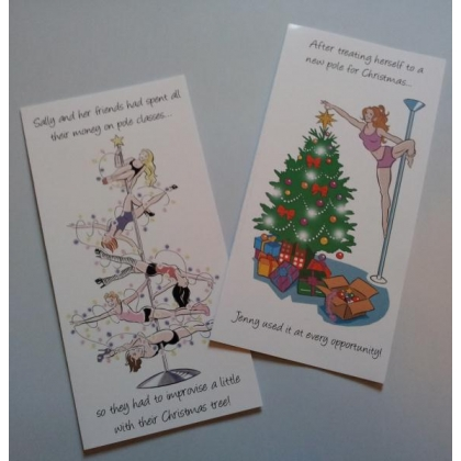 Pole Dancer Christmas Cards