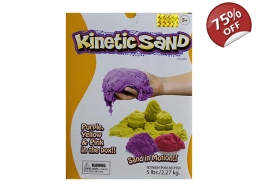 KINETIC SAND 2.5kg - 3 COLOUR SET PINK, YELLOW &..