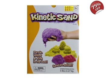 KINETIC SAND 2.5kg - 3 COLOUR SET PINK, YELLOW & PURPLE