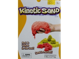 KINETIC SAND 2.5KG -  2 COLOUR SET RED & YELLOW