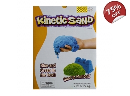 KINETIC SAND 5LB 2 COLOUR SET BLUE & GREEN
