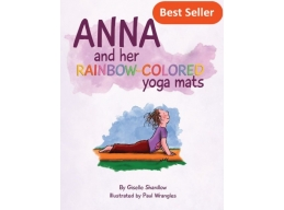 Anna and her Rainbow-Colored Yoga Mats